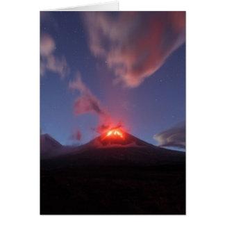 カムチャツカ半島の夜噴火Klyuchevskaya Sopka カード