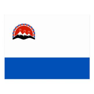 カムチャツカ半島の旗のロシアの国共和国の地域 ポストカード