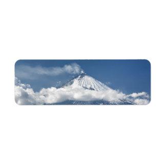 カムチャツカ半島の火山Klyuchevskaya Sopka 返信用宛名ラベル