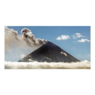 カムチャツカ半島の美しい噴火の火山 カード