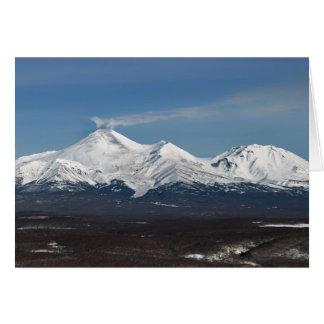 カムチャツカ半島のAvachaの火山の冬の眺め カード