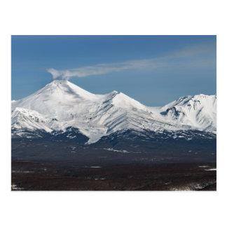 カムチャツカ半島のAvachaの火山の冬の眺め ポストカード