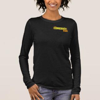 カムバックは女性のワイシャツをからかいます Tシャツ