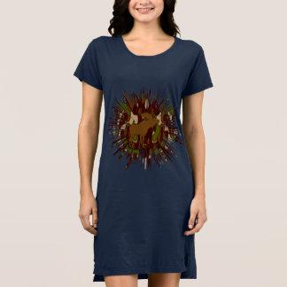 カムフラージュのアメリカヘラジカのブレイクアウトの迷彩柄 ドレス