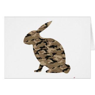 カムフラージュのウサギのシルエット カード