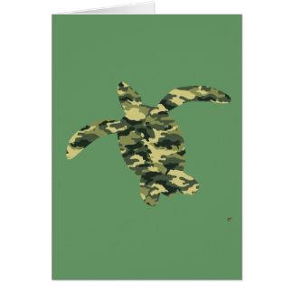 カムフラージュのウミガメのシルエット カード