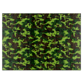 カムフラージュのエリート(軍隊のジャングルの緑)の~ カッティングボード