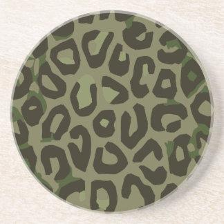 カムフラージュのチータの抽象芸術 コースター