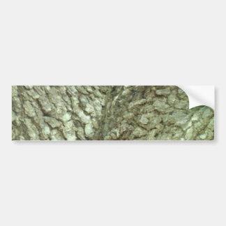 カムフラージュの木の木のフォークの吠え声の迷彩柄の自然の写真 バンパーステッカー
