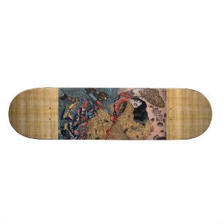 カムフラージュの武士 スケートボード