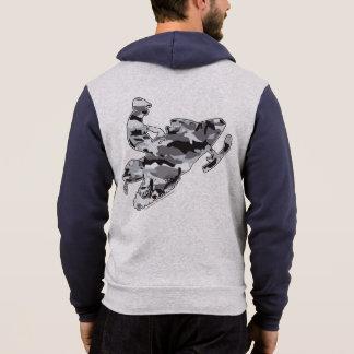 カムフラージュの灰色Snowmobiler パーカ