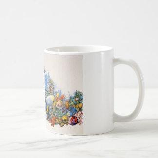 カムフラージュの珊瑚礁 コーヒーマグカップ