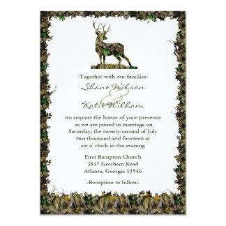 カムフラージュの結婚式招待状を捜すこと カード