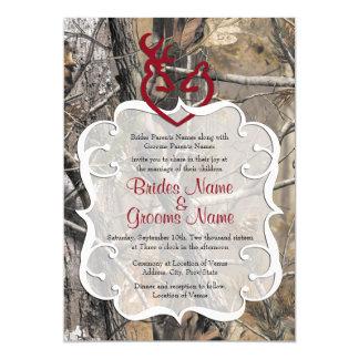 カムフラージュの結婚式招待状 カード