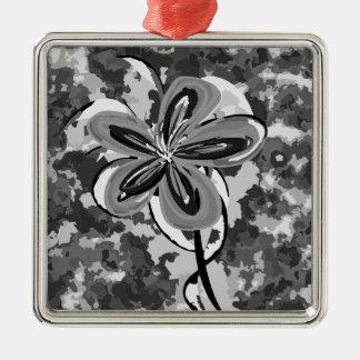 カムフラージュの花 メタルオーナメント