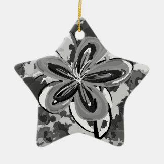 カムフラージュの花 陶器製星型オーナメント