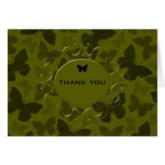 カムフラージュの蝶 カード