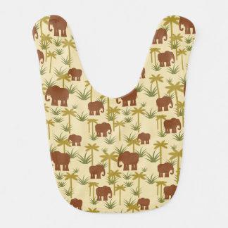 カムフラージュの象そしてやし ベビービブ