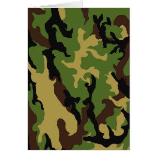 カムフラージュの軍隊の捧げ物 カード