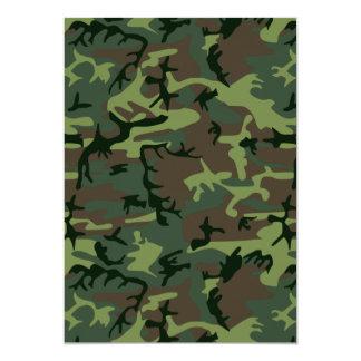カムフラージュの迷彩柄の緑のブラウンパターン カード