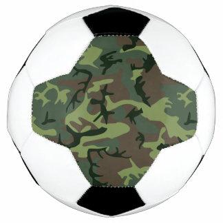 カムフラージュの迷彩柄の緑のブラウンパターン サッカーボール