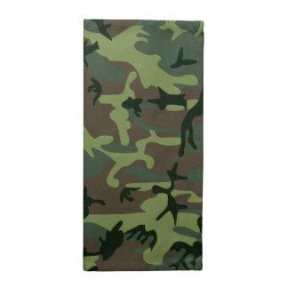 カムフラージュの迷彩柄の緑のブラウンパターン ナプキンクロス