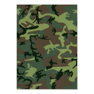 カムフラージュの迷彩柄の緑のブラウンパターン マグネットカード