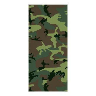 カムフラージュの迷彩柄の緑のブラウンパターン ラックカード