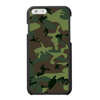 カムフラージュの迷彩柄の緑のブラウンパターン INCIPIO WATSON™ iPhone 6 財布ケース