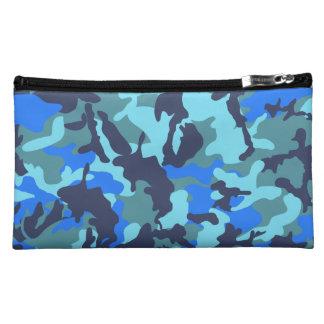 カムフラージュの青 コスメティックバッグ