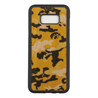 カムフラージュの黄色く黒いComoの軍隊の軍のプリント Carved Samsung Galaxy S8+ ケース