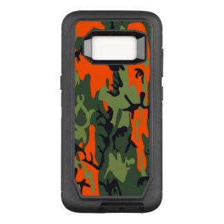 カムフラージュのComoの軍隊の軍のプリントのオレンジ オッターボックスディフェンダーSamsung Galaxy S8 ケース