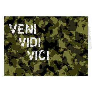 カムフラージュパターン勝利Veni Vidi Vici カード