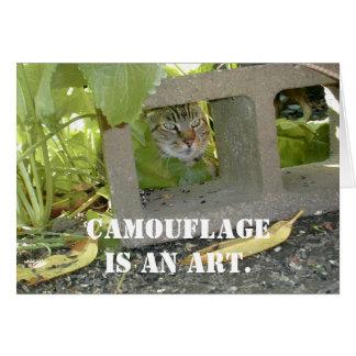 カムフラージュ猫 カード