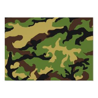 「カムフラージュ軍の捧げ物」の招待状 12.7 X 17.8 インビテーションカード