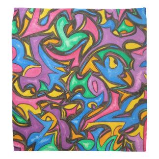 カムフラージュ-手塗り抽象美術 バンダナ
