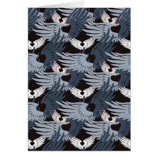 カムフラージュHeartwings (bluegray) カード