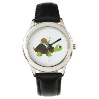 カメおよびかたつむりの腕時計 腕時計