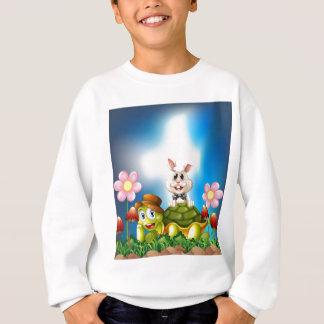 カメおよびノウサギ スウェットシャツ