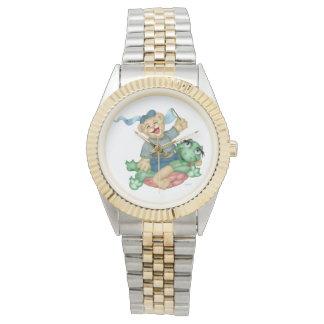 カメくまの漫画のツートーンブレスレット 腕時計