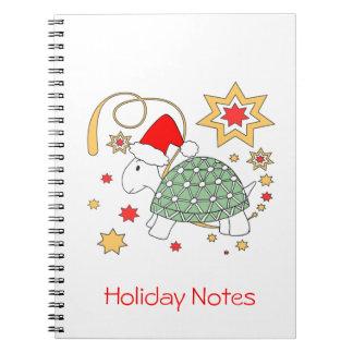 カメのクリスマスのノート ノートブック