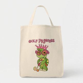 カメのゴルフプリンセスのTシャツおよびギフト トートバッグ