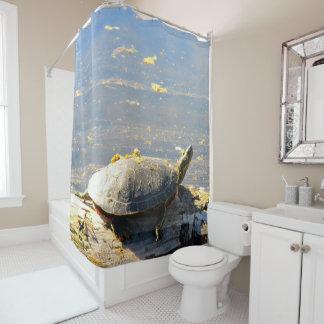 カメのシャワー・カーテン シャワーカーテン