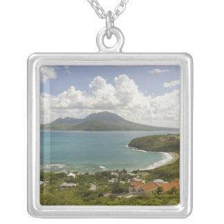カメのビーチ、南東半島、St Kitts、 シルバープレートネックレス