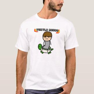 カメのロデオ Tシャツ