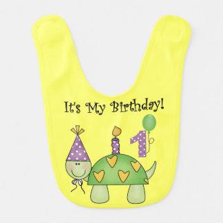 カメの最初誕生日のよだれかけ ベビービブ