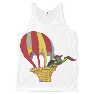 カメの気球飛行 オールオーバープリントタンクトップ