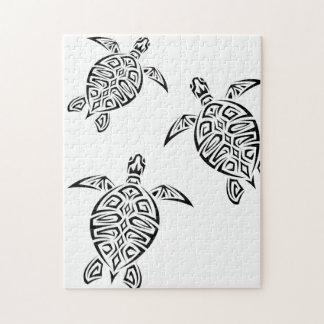 カメの種族のTatoo動物 ジグソーパズル