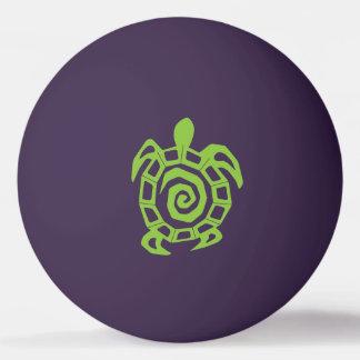 カメの緑のプリント 卓球ボール