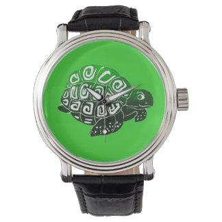 カメの緑の腕時計 腕時計